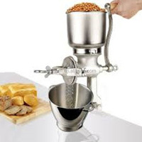 CORONA CORN GRINDER with plastic shield ,cast iron material hand crank coffee grinder