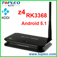 4K and Kodi Support Octa Core Bluetooth Wifi Internet TV Box RK3368 Z4 android live streaming tv box