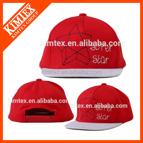 2016 China OEM christmas star free size fashionable baseball cap with custom logo patch