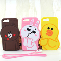 Lovely cartoon transformable silicone women cell phone case
