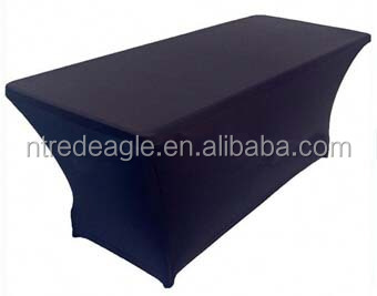 elastic black rectangular spandex table cover for cheap sale
