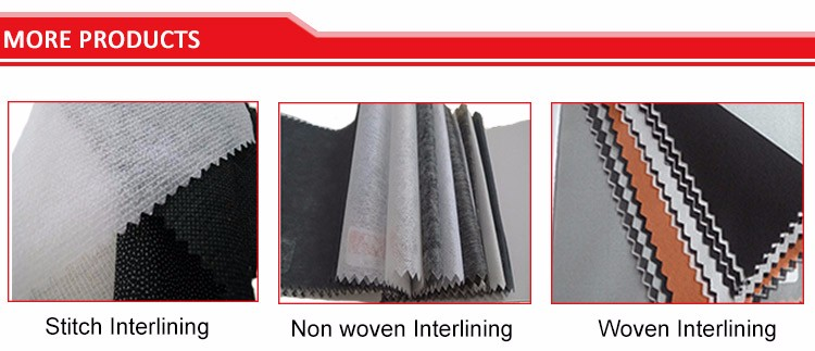 Garment Accessory 100 Polyester Non Woven Fusible Interlining Fabric Nonwoven Fusing Interfacing Cloth