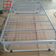 Folding metal bed with wheels sofa/wall metal bed frame