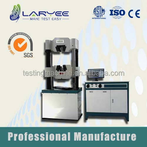 ISO Qualified WEW 600KN Computer Display Manual Universal Testing Machine