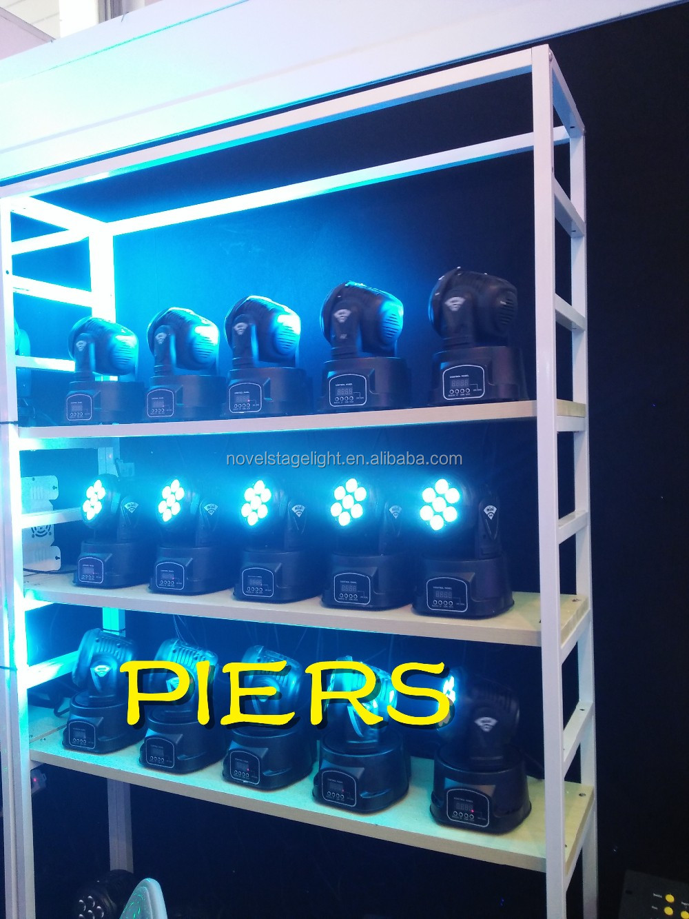 Piers 7 pieces mini beam led moving head light led wash light for ktv and club
