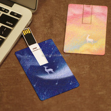 Promotional Custom Logo USB Card Cheapest Factory Price Business Card USB Flash Drives 100% Real Capacity Credit Card USB 16GB