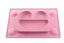 one piece silicone placemat and plate