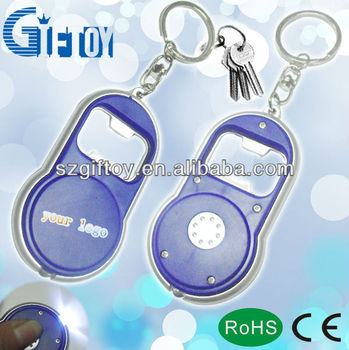 GT-052D Cheap Price High Quality Aluminium Bottler Open with LED light keychain