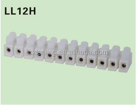 Feed Through Screw Ballast terminal block/Hot Selling 1-12 pole Connector Feed Through Terminal Block connector LL12H