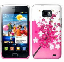 Pink Plum Flower Soft Case For SAMSUNG GALAXY S2 SII i9100
