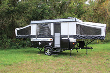 Small Mini Korea Camping Trailer For Family with kitchen and other accessories