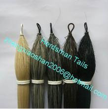 Grey color horse false tails for horse racing