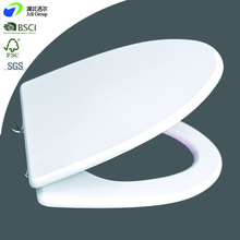 Chinese V Pointed Shaped White Printed Filming Coated Soft Closed Hinges MDF Toilet Seats