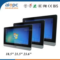 22 inch 3G/wifi lcd multi touch all in one pc touch screen for home/office