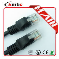 china manufacturing high speed cat5e utp patch cord Molded RJ45 Plug 4 Pairs, 7 strands, 24/26 AWG, UTP