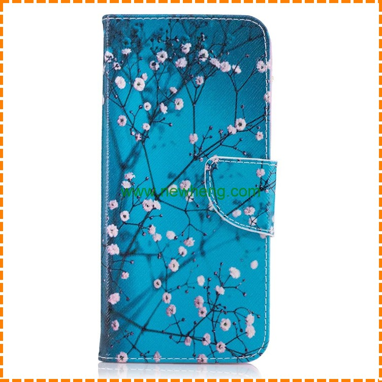For Samsung Galaxy S8 Colorful Painted Stand Flip Wallet Leather Mobile Phone Case