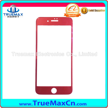 China Red slim screen protector Red Tempered Glass for iPhone 7plus