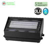 LED 70W Wall Pack Light, DLC-Qualified, 350-400W HPS/HID Replacement, 5000K (Crystal White Glow), 7000 Lumens