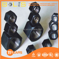 DIN934 grade 8 black oxide hex. nut