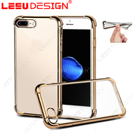2017 trending products phone accessories mobile electroplate shockproof TPU case for apple iphone 7