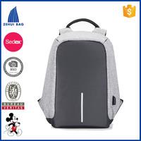 China suppliers high-end business backpack bag men's computer bag backpack External USB backpack