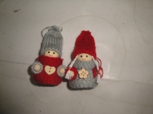 set of 2 pieces christmas childs ornament