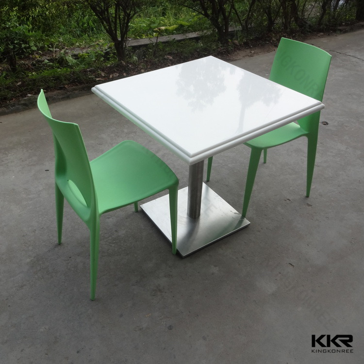 Kingkonree solid surface laminate top exotic dining tables white