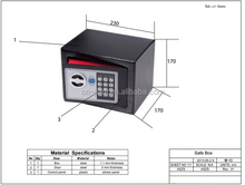 Special new coming boat digital electronic safe box