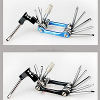 10 in 1 2015 Hot selling useful bicycle repair tool set,Multi-function bicycle tool,Professional bicycle hand repair tool set