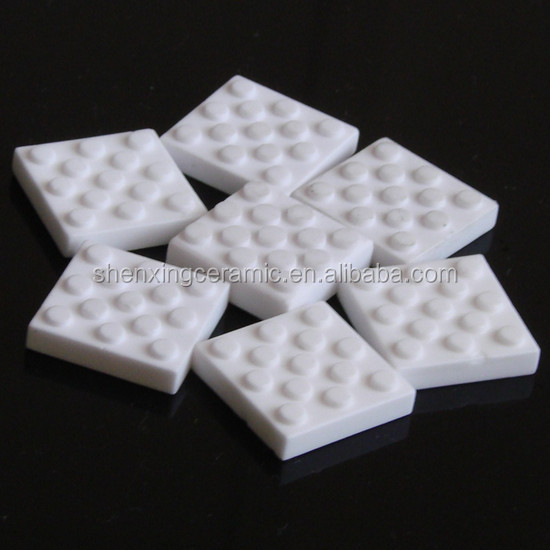 High wear resistance insulating 20*20*8mm 95% alumina ceramic pulley lagging