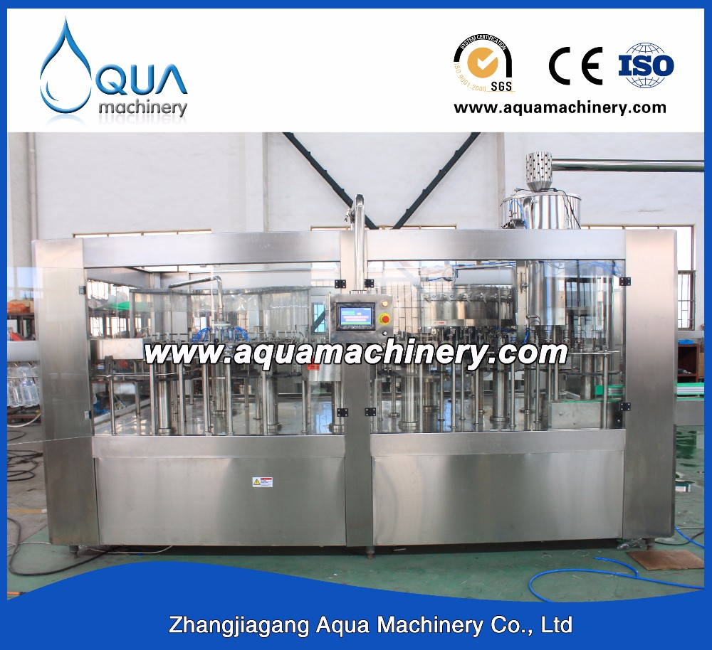 Aqua Machinery Soda Balance Pressure Filler Filling Machine
