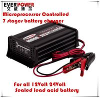 High quality Everpower EPA1210 7 stage charging full automatic lead acid repair battery charger