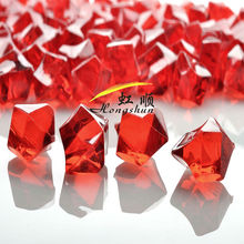 Cheap Decoration Red Colored Gemstones Acrylic Beads Crystal Wedding Table Confetti