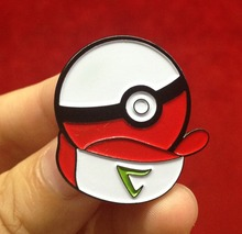 2016 hot selling beautiful pokemon badge holder pin badge