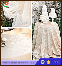 wedding elegant sequence table cloth in many colors