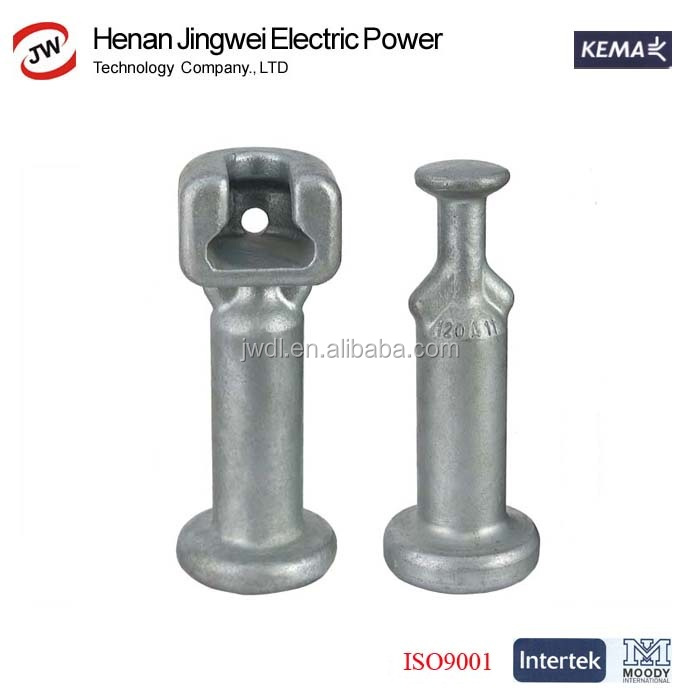 Hot dip galvanized power fitting for electrical power line transmission and distribution