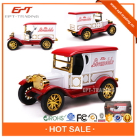 Wholesale 1:32 scale metal pull back toy vintage car with light and music