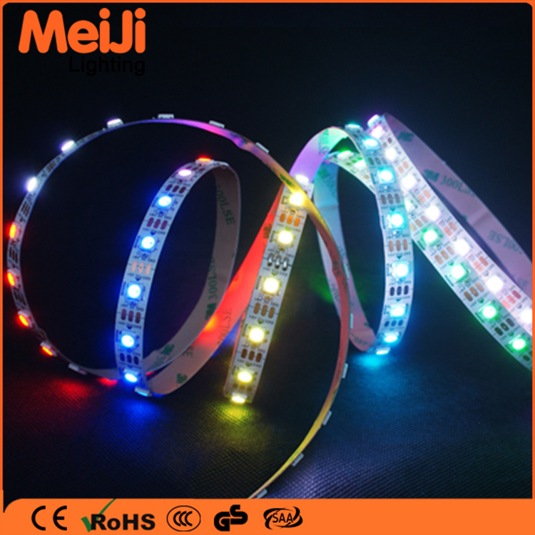 Zhongshan manufacturer aluminum profile led strip light 5050 rgb flexible out door magic led strip ws2812b strip led