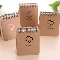 kraft paper notebook mini book printing spiral notebook