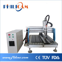 China best manufacturer new water cooling desktop mini cnc router 6090 for acrylic/mdf/wood/aluminum