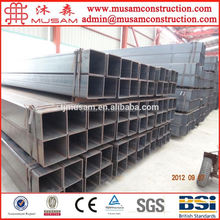 Raw material galvanized rectangular hollow section steel pipe / tube with top price