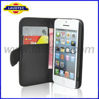 Iphone 5C Case 100% Confirmed tested with REAL Phone,Wallet Case for iPhone 5C,Flip Leather Case for iPhone 5C, Laudtec