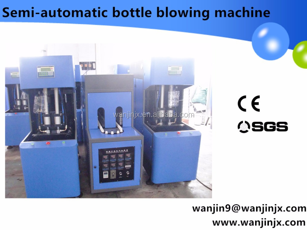 semi automatic pet plastic bottle blowing machine price/water filling bottle semi making machine