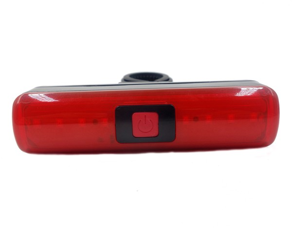 Red And Black Bicycle Light With Warning Function