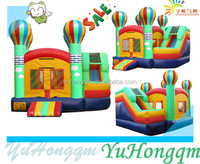 new design outdoor commercial inflatable slide,inflatable bounce jump combo