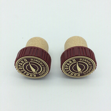 China aluminium plus bottle stopper custome cork rubber cork