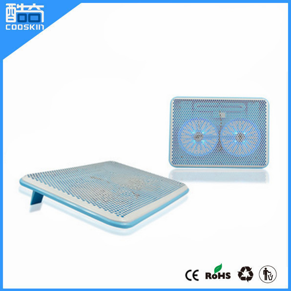 High quality cooling pad for notebooks with double fans
