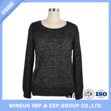 Spring Women Sexy Acrylic Nylon Lurex Pollover Sweater For Women
