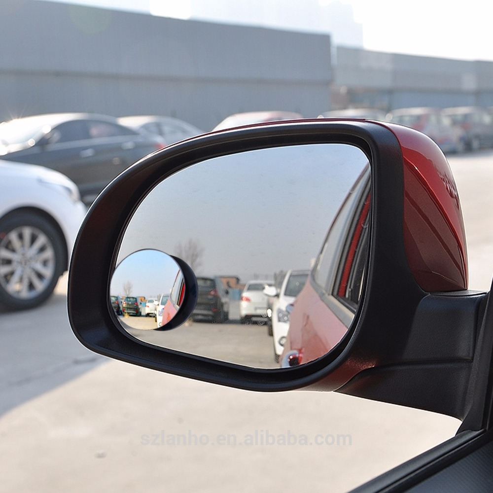 2017 wholesale Car Rear View Mirror 360 Degree Rotating Wide Angle Blind Round Convex Parking Mirror Spot Mirror car Accessory