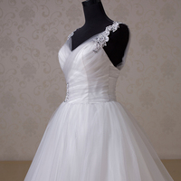 Real Photo Luxury Off Shoulder Shining Bridal Gown Sweetheart Beaded Ruffled Organza Bling Bling Trumpet Wedding Dress